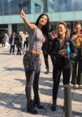 Yovanna Ventura meet her fans while out in Barcelona, Spain