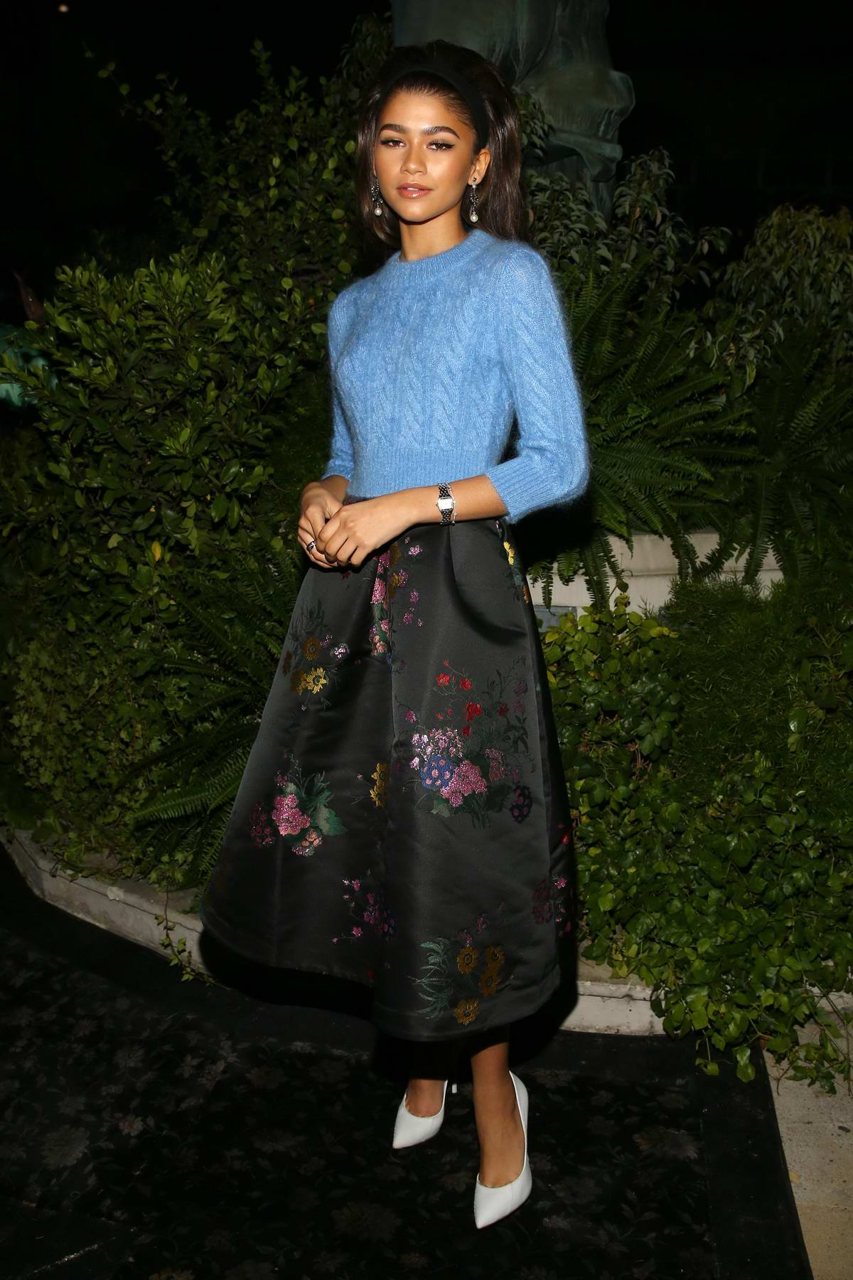 Zendaya Coleman at the Erdem X H&M launch event and show in Los Angeles