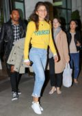 Zendaya Coleman spotted wearing her yellow Thursday sweater as heading to the street style event in New York City