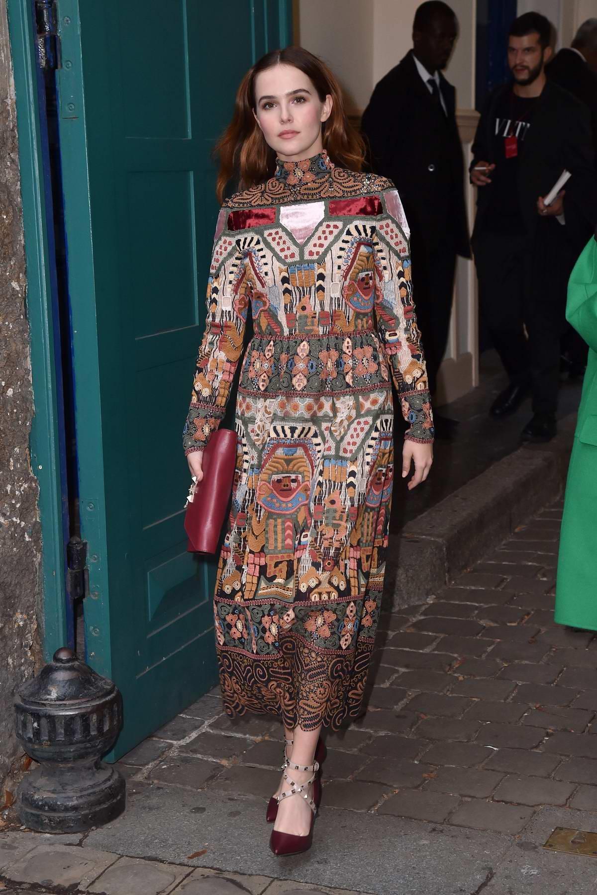 Zoey Deutch attends Valentino Show, spring summer 2018 during Paris Fashion Week, France