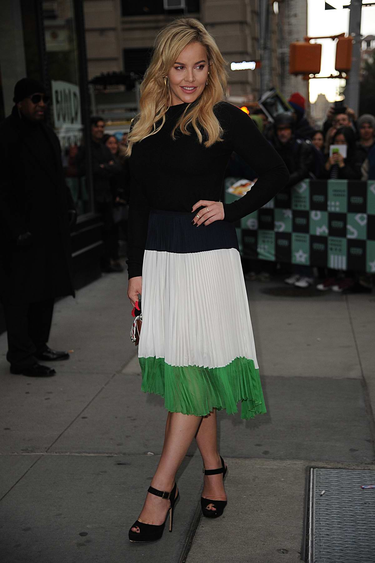Abbie Cornish spotted outside at AOL Build Series in New York City