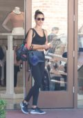 Alessandra Ambrosio in her workout gear while out for shopping in New York City