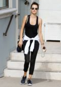 Alessandra Ambrosio spotted leaving the gym after a morning workout in Los Angeles