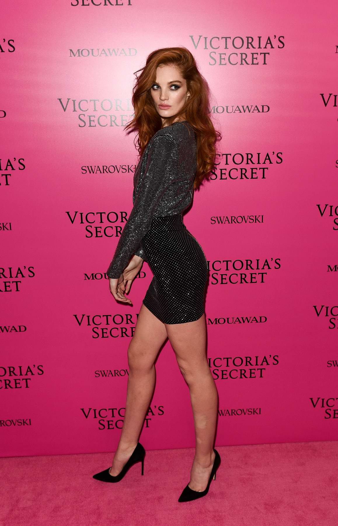 Alexina Graham at the Victoria's Secret fashion show, pink carpet and after party at Expo Center in Shanghai, China