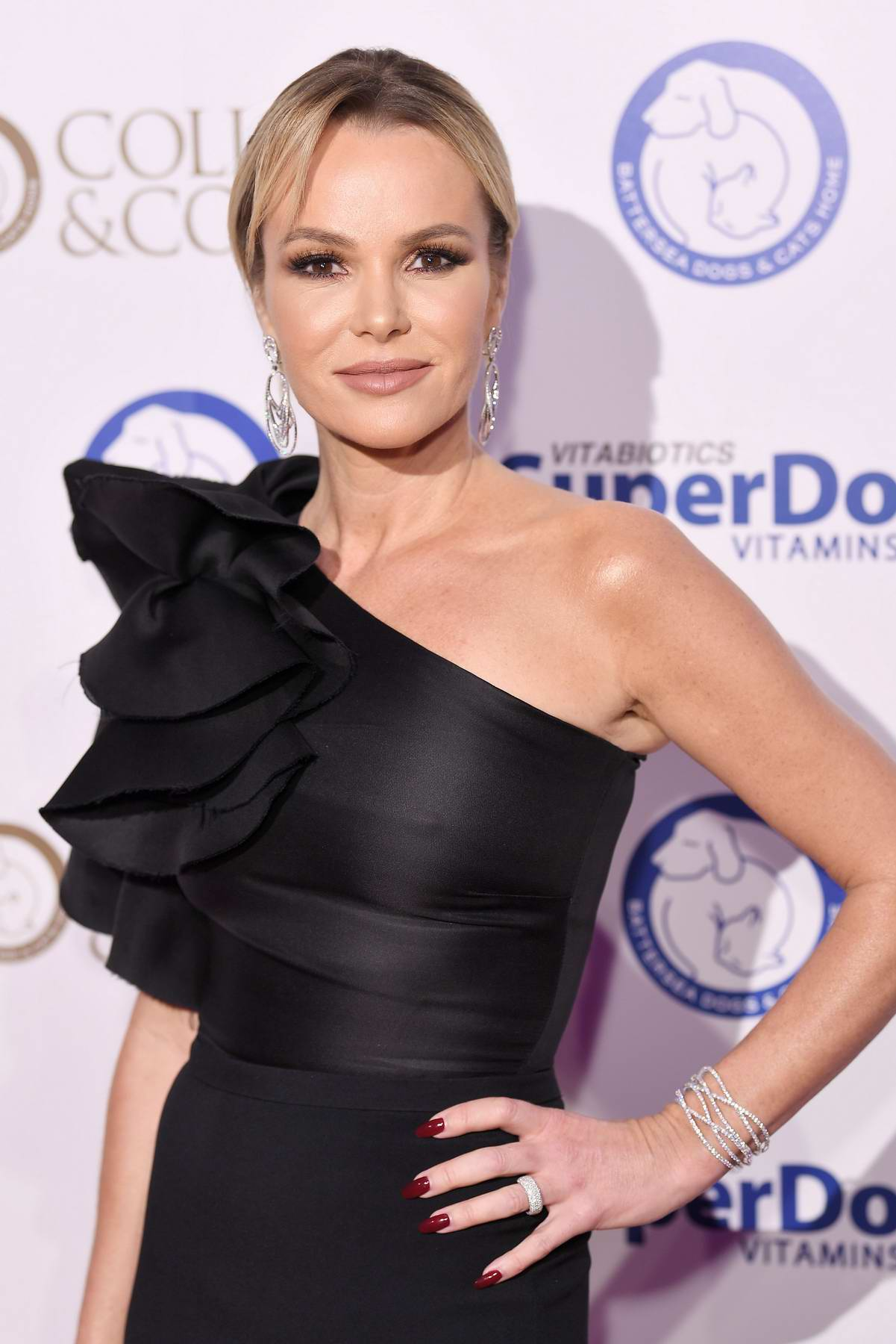 Amanda Holden at the Collars & Coats gala ball in London