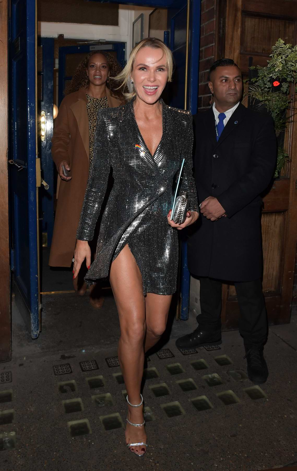 Amanda Holden leaving the theatre after the 'Everybody's Talking About Jamie' musical in London