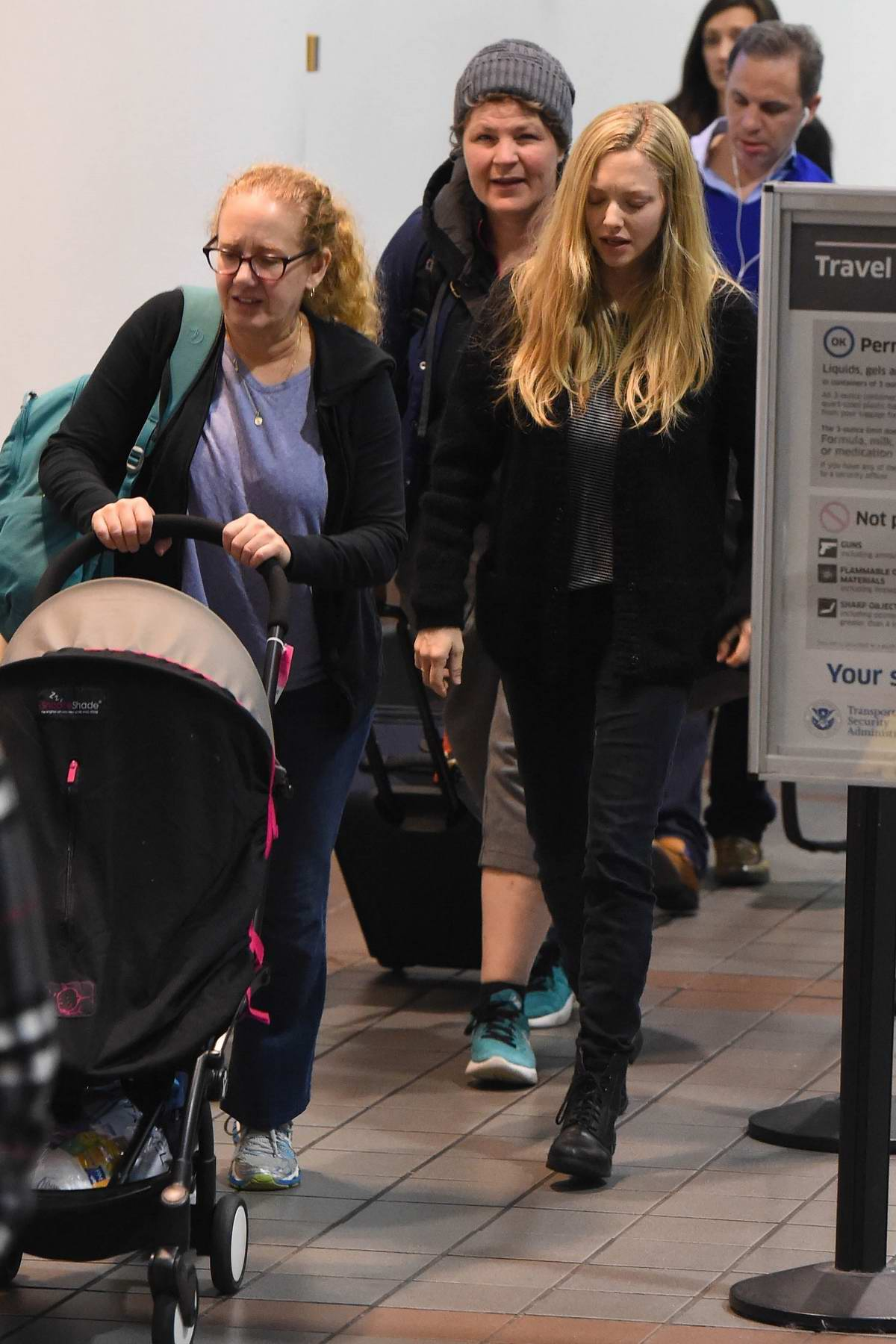 Amanda Seyfried arriving at LAX airport in Los Angeles