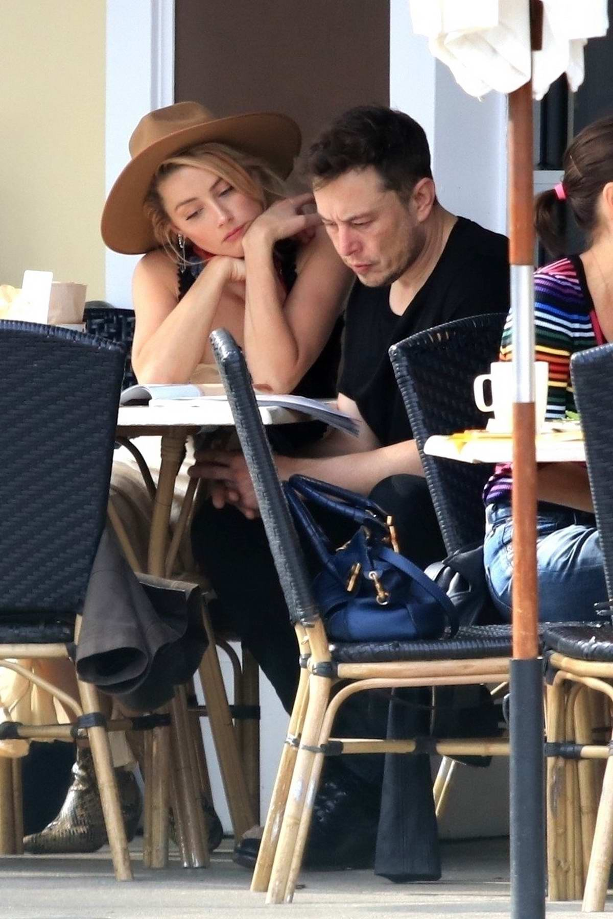 Amber Heard gets together with ex Elon Musk for breakfast at Sweet Butter Kitchen in Sherman Oaks, Los Angeles