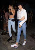 Amelia Hamlin and Delilah Hamlin arriving at Poppy nightclub in West Hollywood, Los Angeles