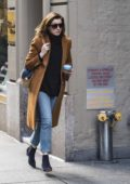 Anne Hathaway spotted while leaving an office building in New York