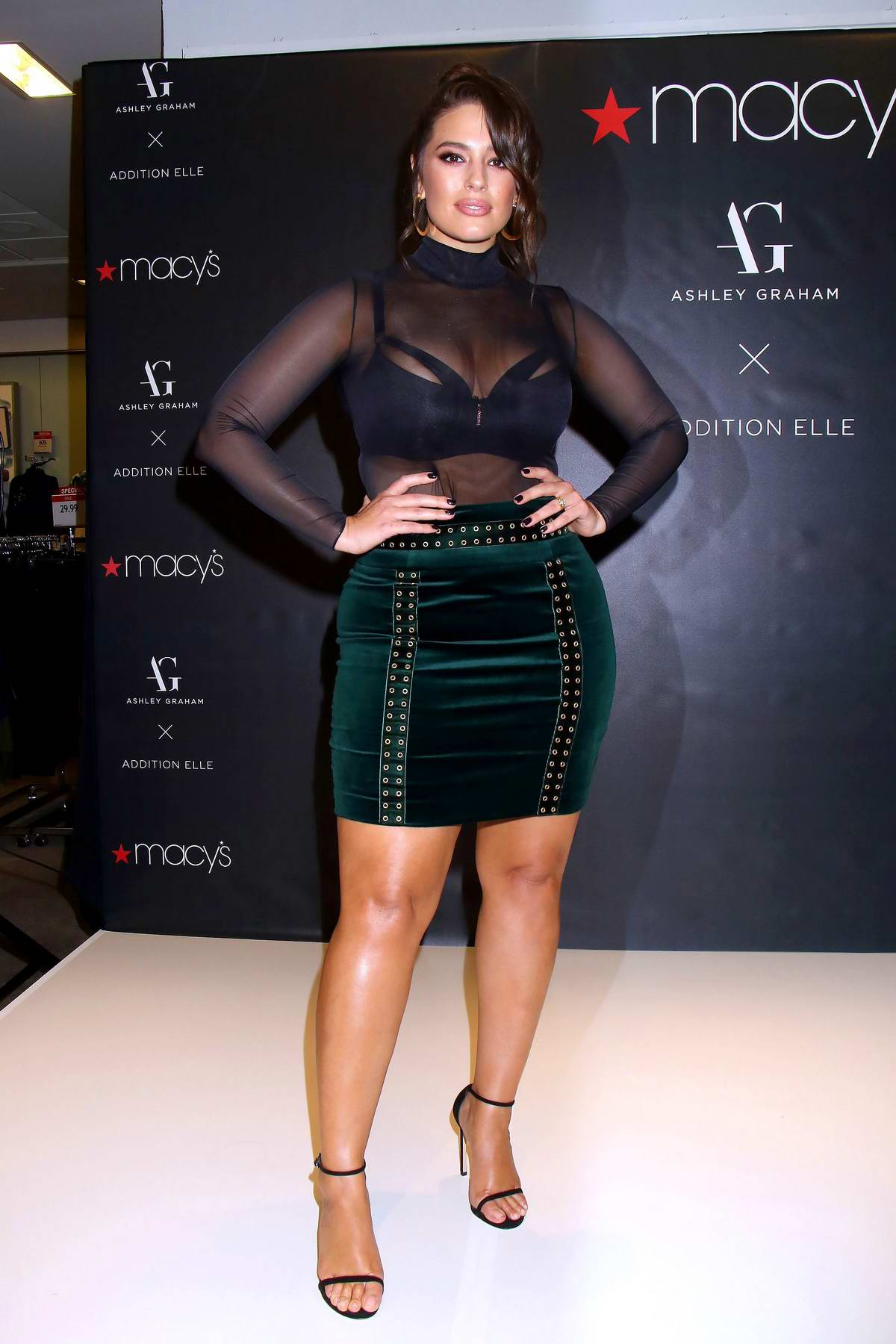 Ashley Graham at her lingerie collection 'Addition Elle' launch at Macy's Fashion Show Mall in Las Vegas, Nevada