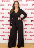Ashley Graham makes an appearance on Lorraine TV show in London