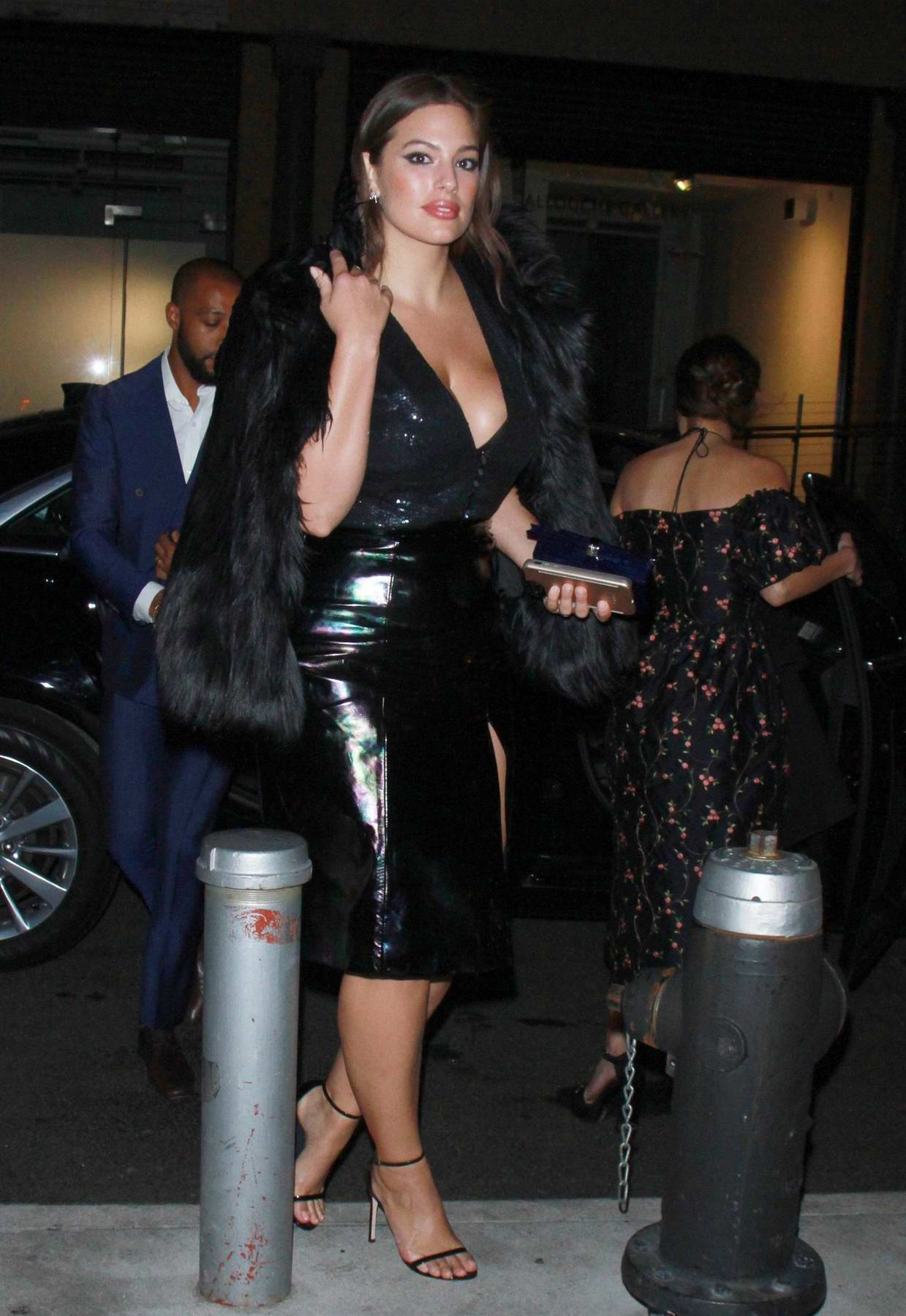 Ashley Graham spotted arriving a party at Whitney Museum in New York City