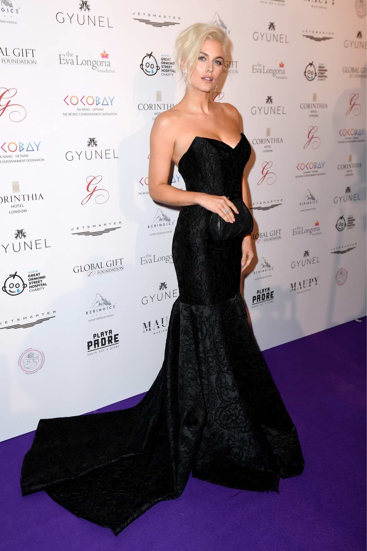 Ashley James at the Global Gift Gala held at The Corinthia Hotel in London