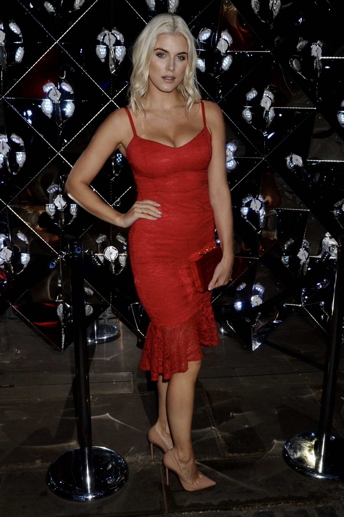 Ashley James at the Lipsy Winter Wonderland party in London
