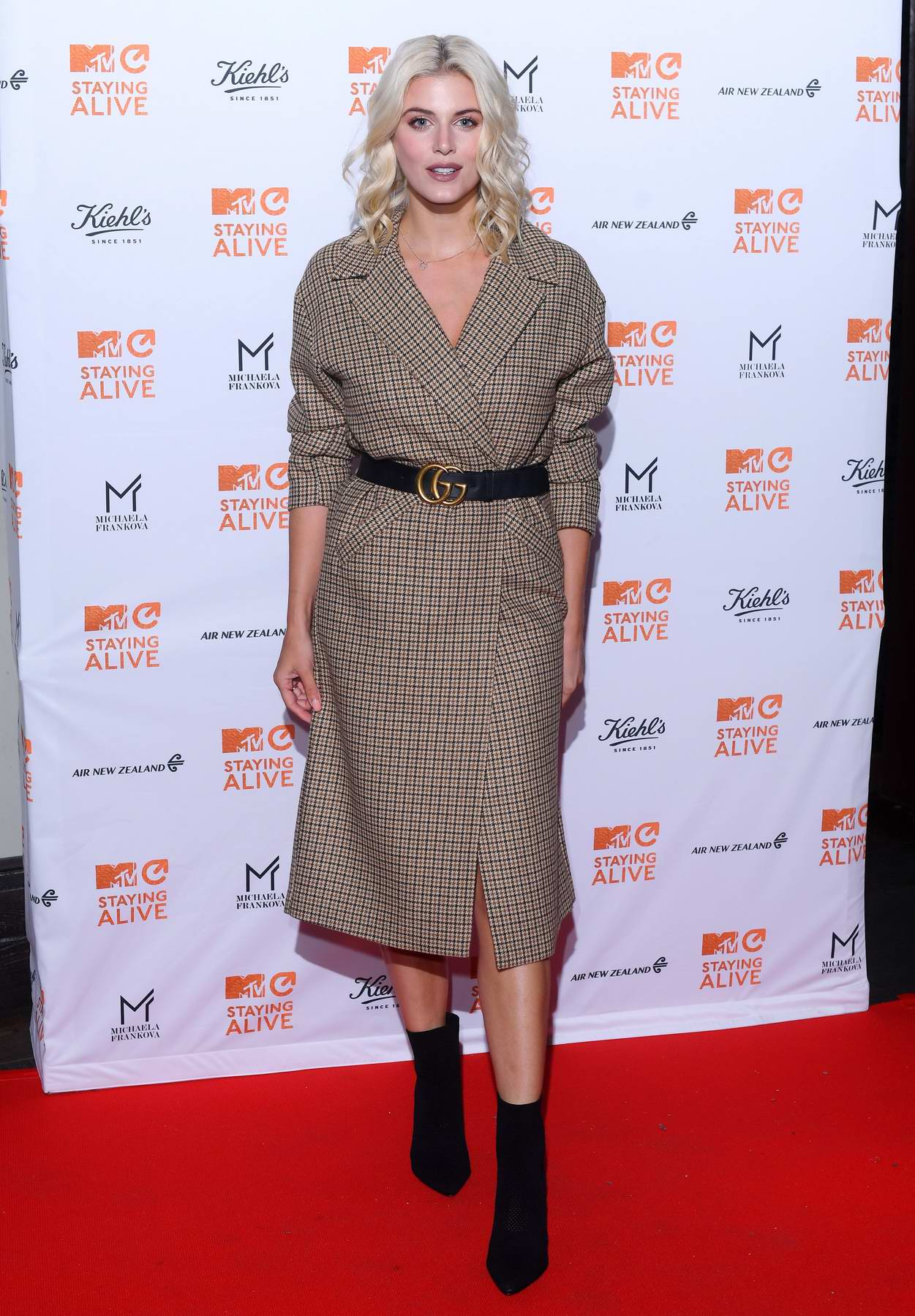 Ashley James attends the MTV Staying Alive gala at 100 Wardour Street in London