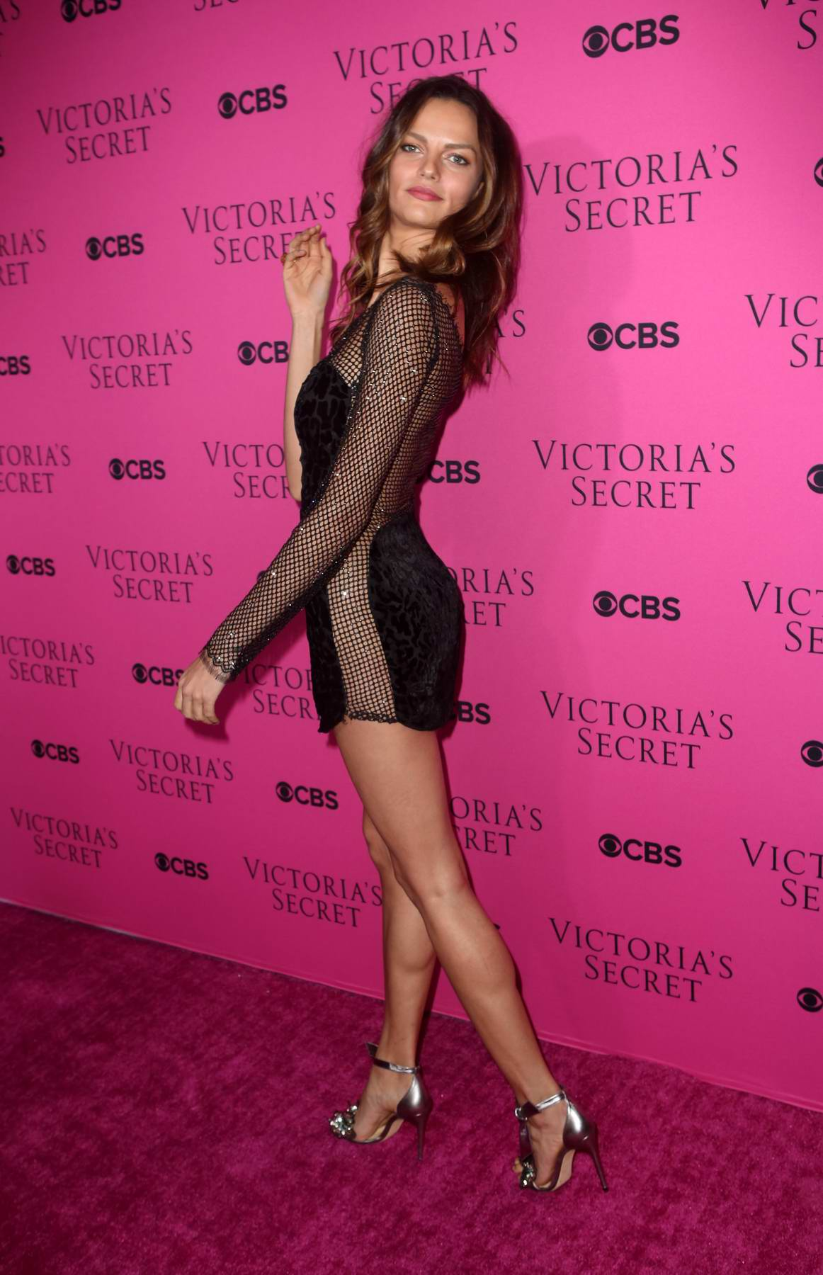 Barbara Fialho at the Victoria's Secret Fashion Show viewing party in New York