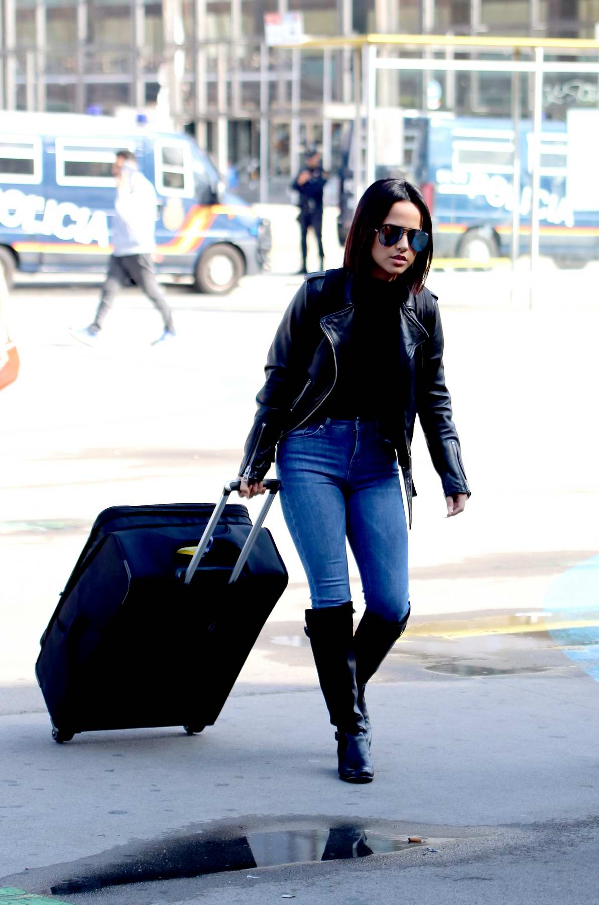 Becky G spotted arriving in Barcelona, Spain
