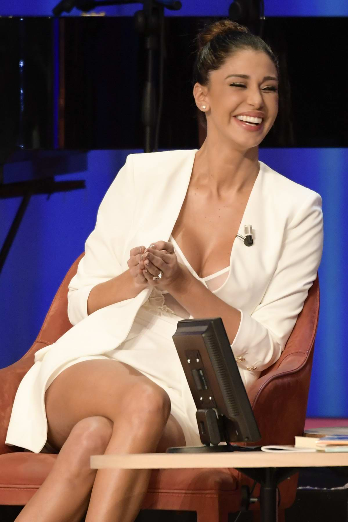 Belen Rodriguez appears on Maurizio Costanzo Show in Rome, Italy