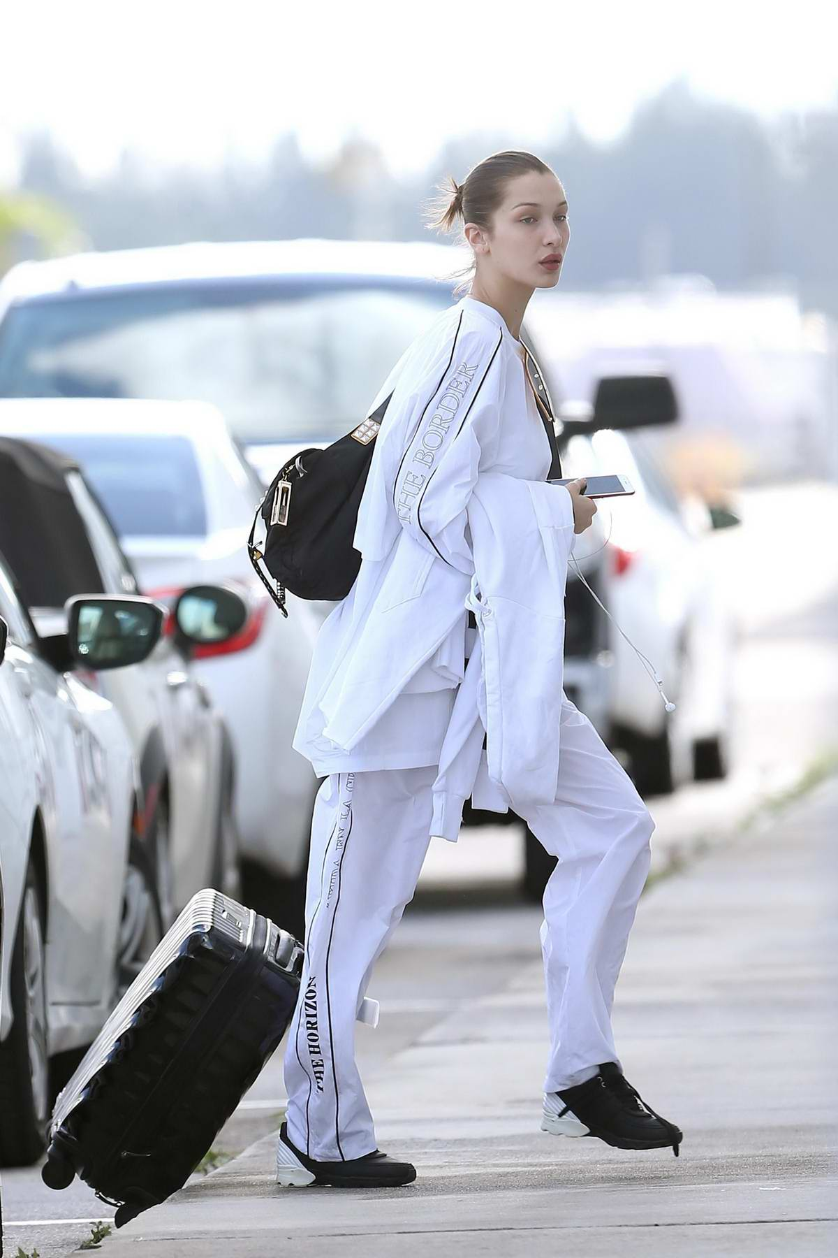 Bella Hadid and Hailey Baldwin spotted arriving into Miami on a private plane