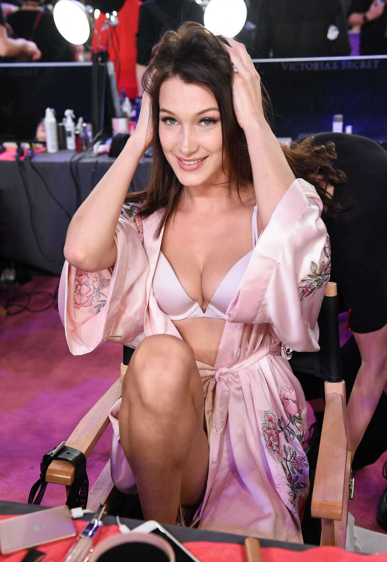 Bella Hadid at backstage of Victoria's Secret fashion show in Shanghai, China
