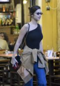 Bella Hadid spotted while shopping for a Halloween party with a friend in Rome, Italy