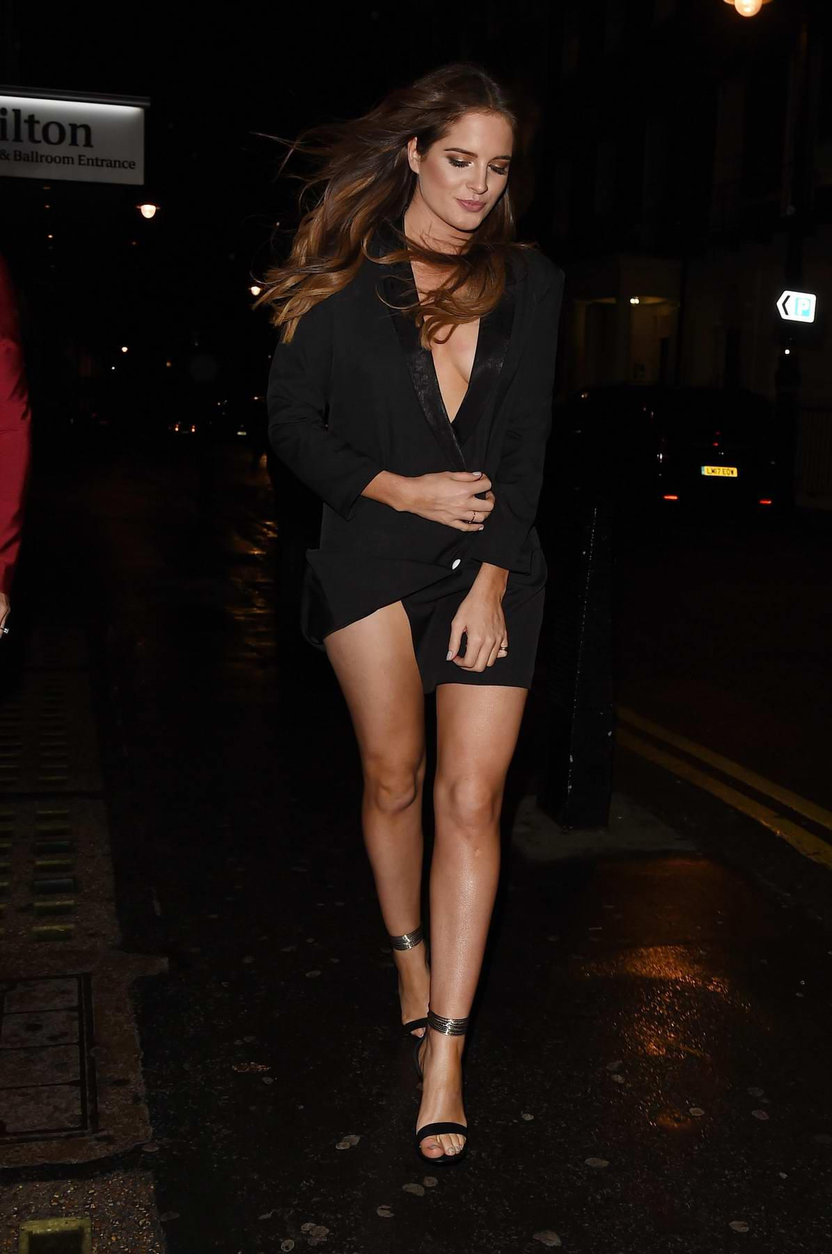 Binky Felstead leaving In The Style photoshoot in London