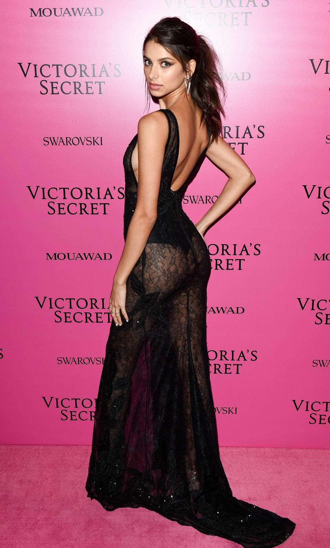Bruna Lirio at the Victoria's Secret fashion show, pink carpet and after party at Expo Center in Shanghai, China