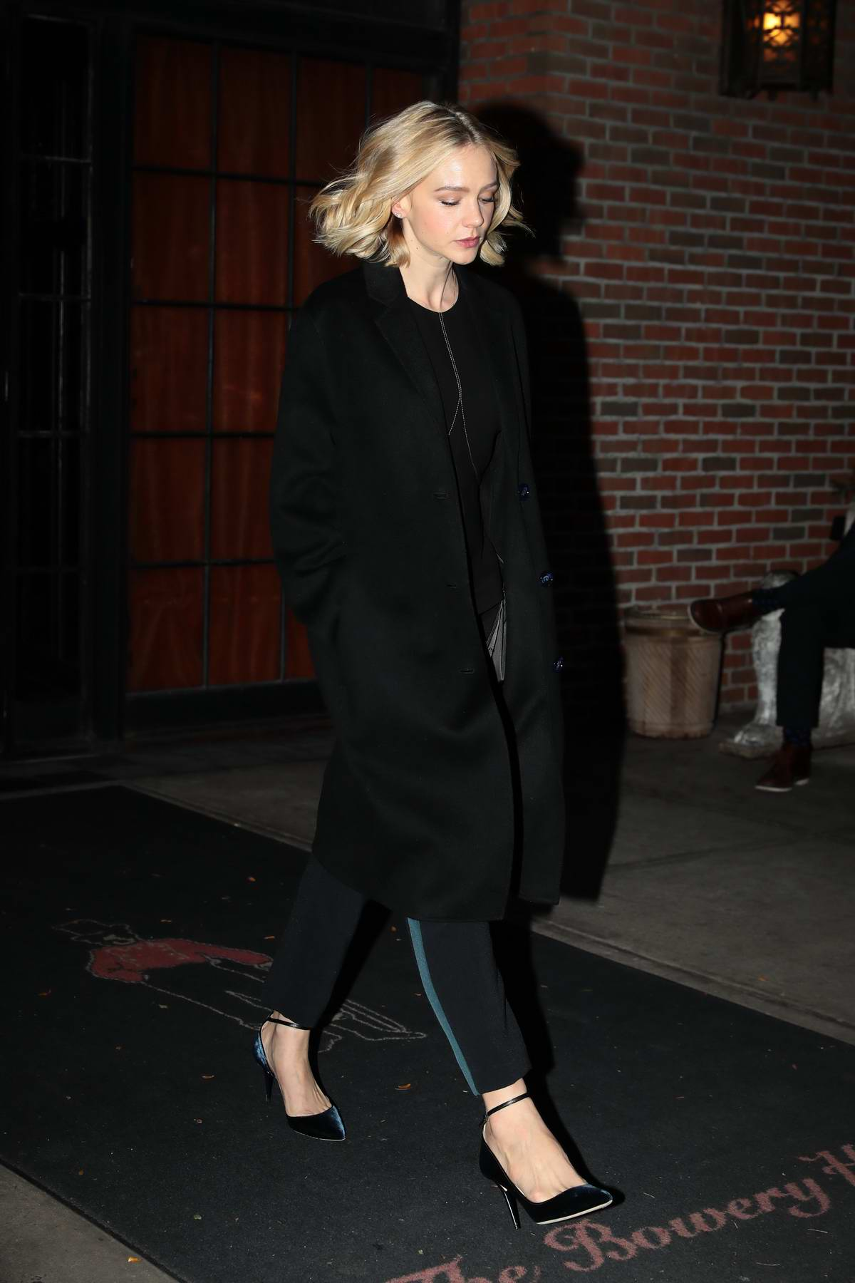 Carey Mulligan leaves The Bowery Hotel in New York City