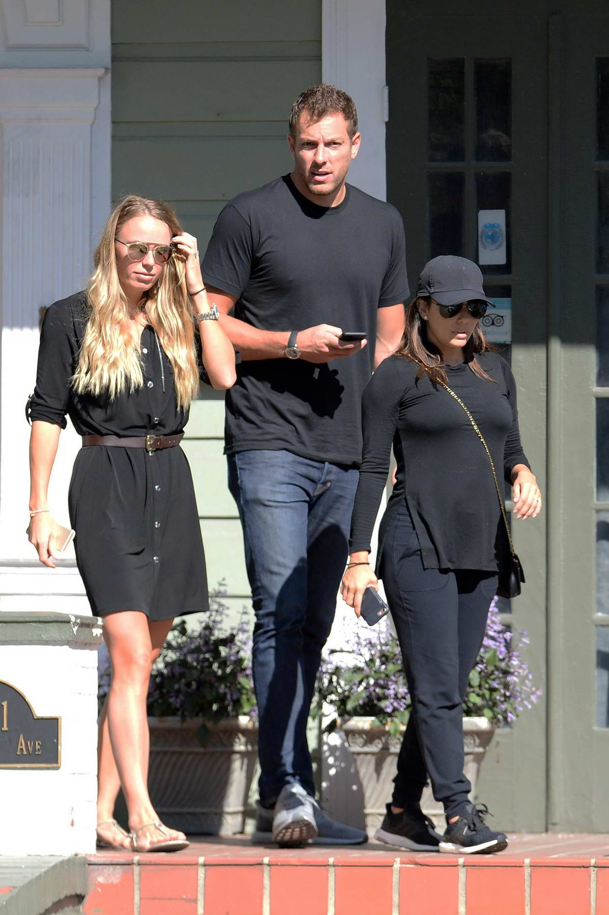 caroline wozniacki and david lee spotted with eva longoria