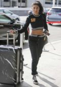 Chantel Jeffries spotted while carting her luggage at LAX airport in Los Angeles