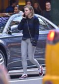 Chloe Grace Moretz seen wearing tights and sneakers while out and about in New York City