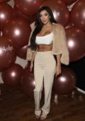 Chloe Khan at Skulpt non surgical clinic first birthday party at the Shakily hotel in Liverpool, UK