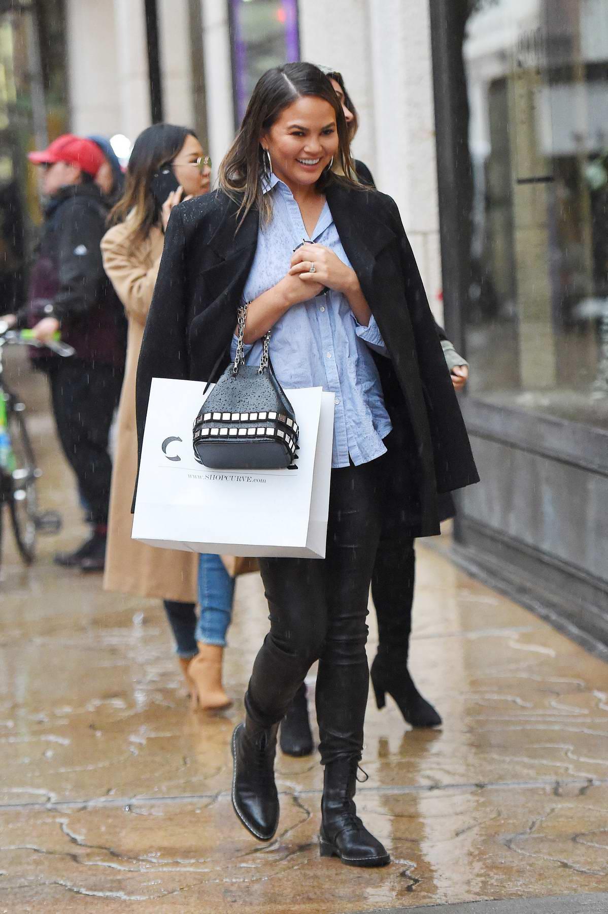 Chrissy Teigen out for shopping in SoHo, New York City