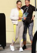 Christina Milian and a friend step out for lunch at Granville in Studio City, Los Angeles