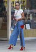 Christina Milian shows off her style in West Hollywood, Los Angeles