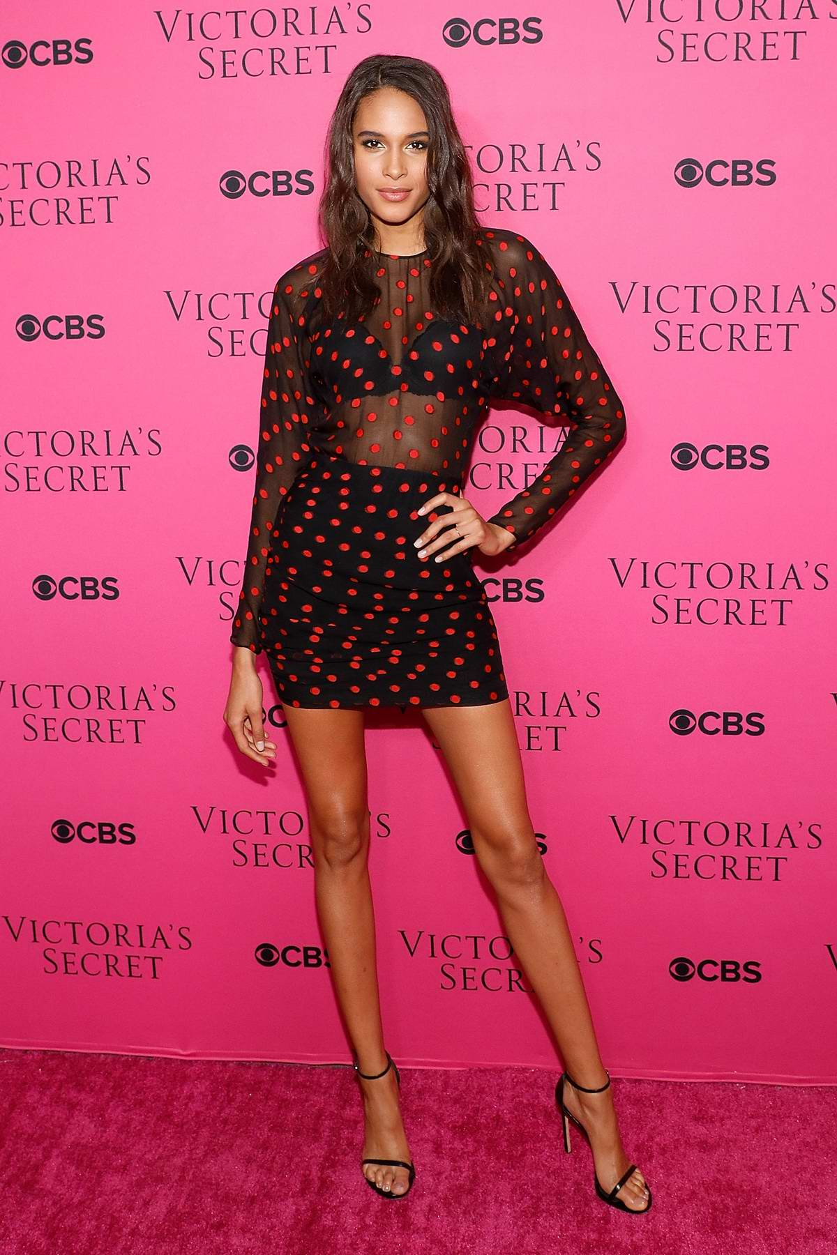 Cindy Bruna at the Victoria's Secret Fashion Show viewing party in New York