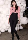 Daisy Lowe at EOS lip balm winter lips party in London
