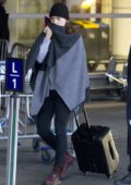 Daisy Ridley arrives to an airport in Montreal, Canada