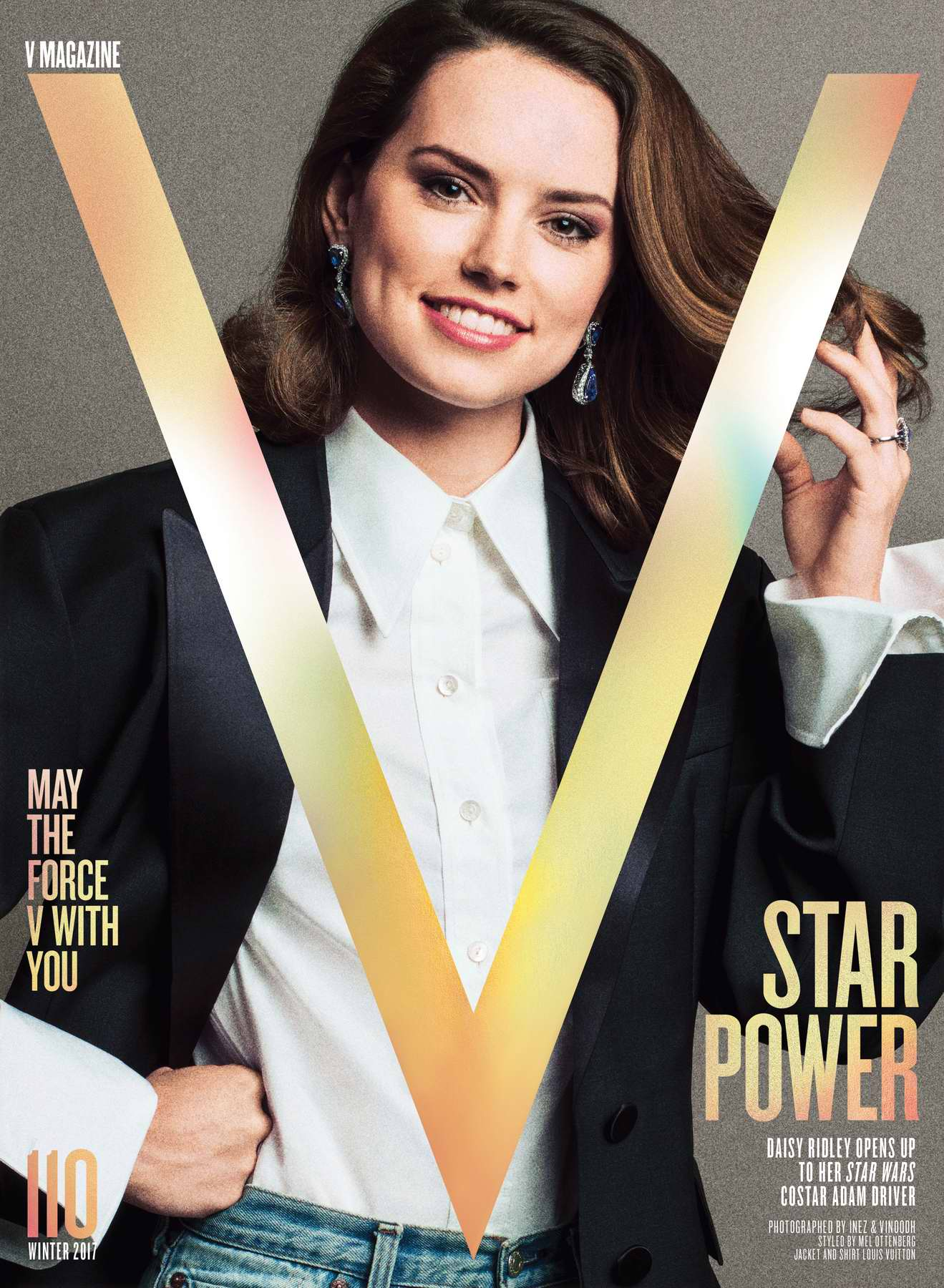 Daisy Ridley featuring in V Magazine - Winter 2017
