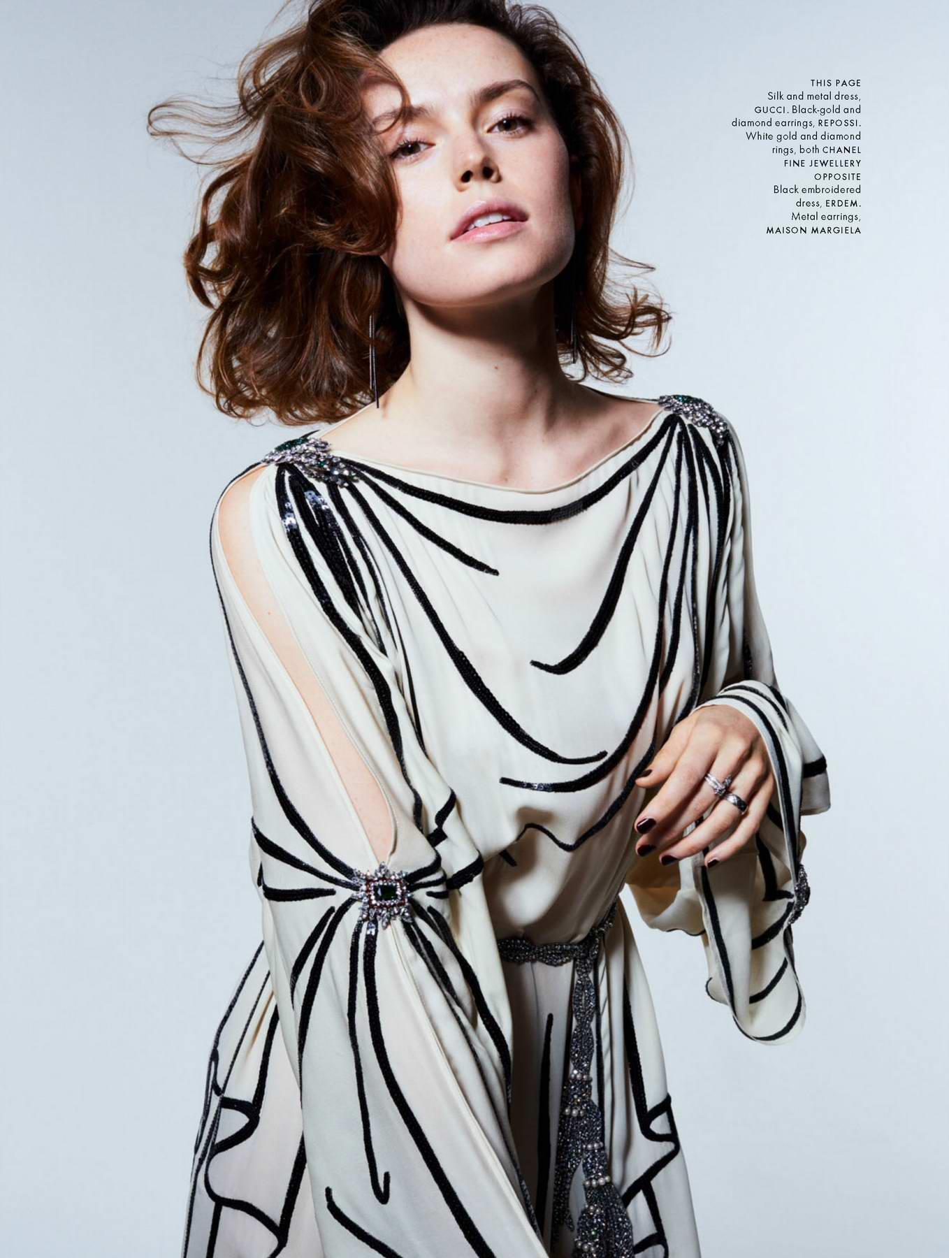 Daisy Ridley in Elle Magazine, UK - December 2017