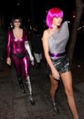 Delilah Hamlin and Amelia Hamlin leaving Delilah night club after a Halloween party in West Hollywood, Los Angeles