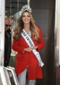 Demi-Leigh Nel-Peters, newly-crowned Miss Universe 2017 of South Africa is hosted by the Empire State Building in New York City