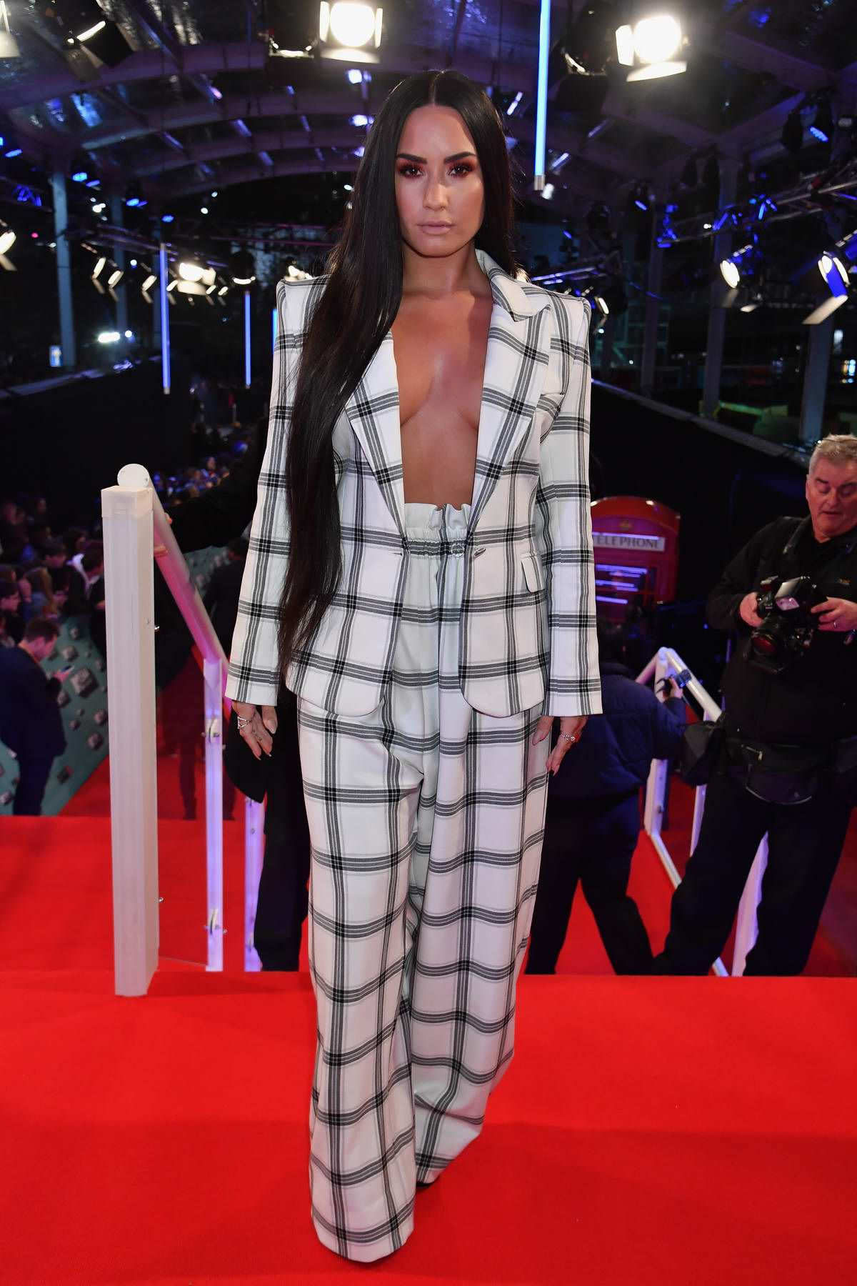 Demi Lovato at the 24th MTV Europe Music Awards held at SSE Arena Wembley in London