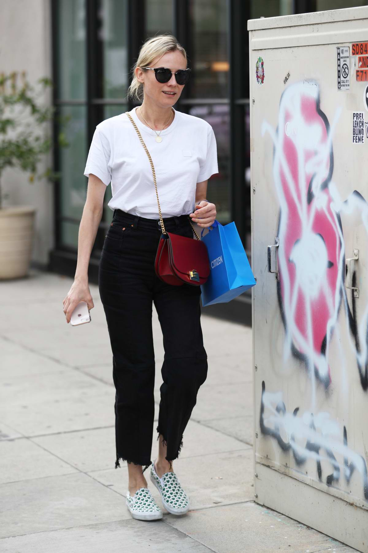 Diane Kruger shops at Cotton Citizen on Melrose place in Los Angeles