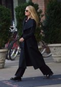 Dianna Agron spotted out wearing chic black coat in SoHo, New York City