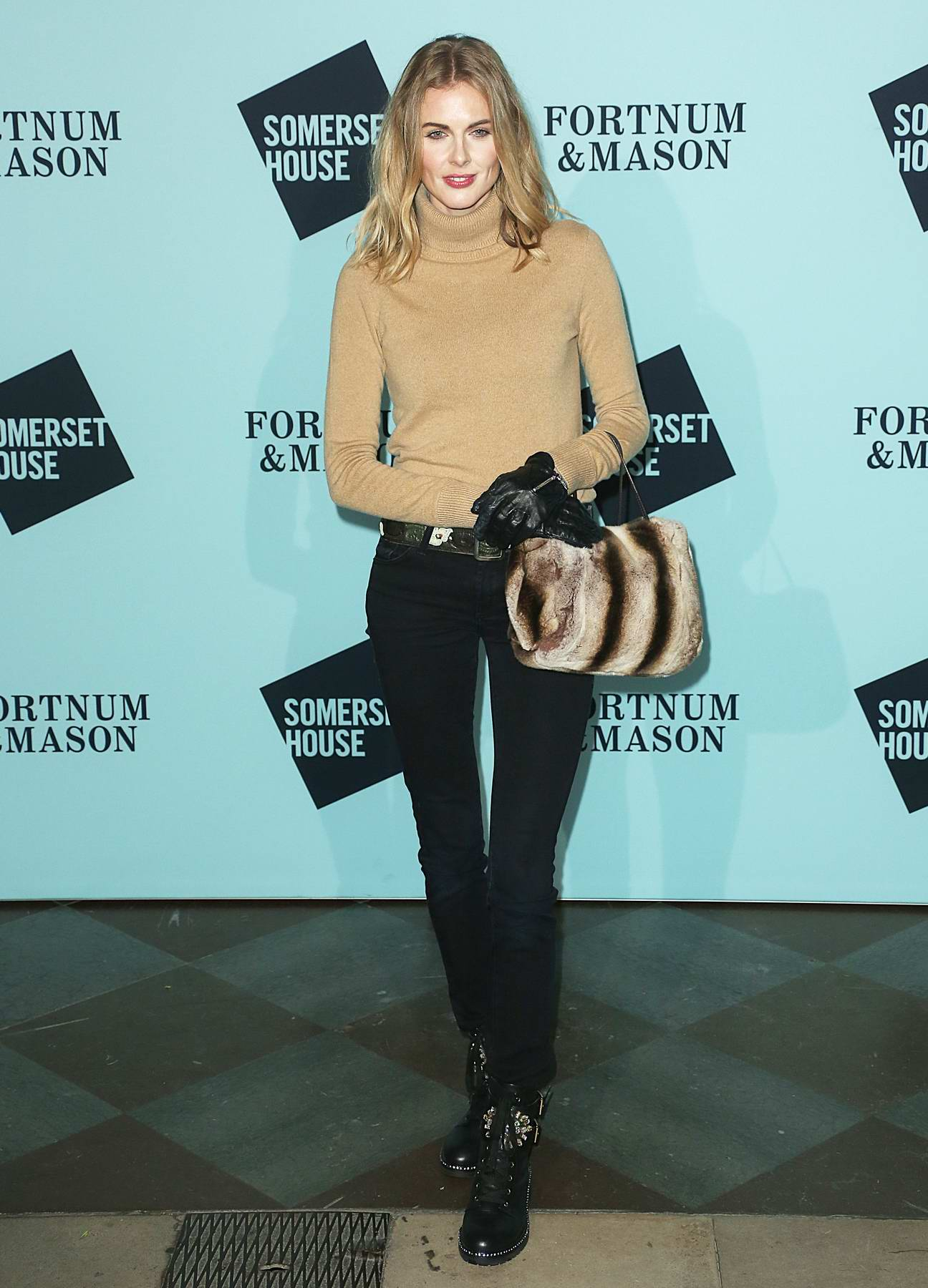 Donna Air at the 'Skate at Somerset House' launch party in London