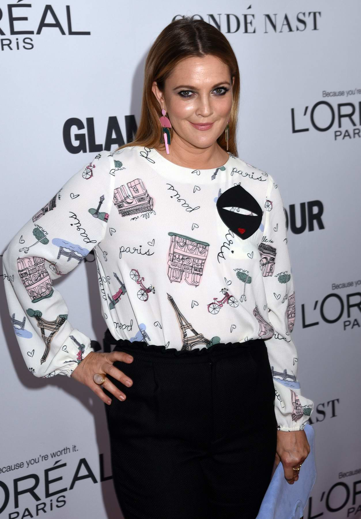 Drew Barrymore at the Glamour Women Of The Year Awards in New York