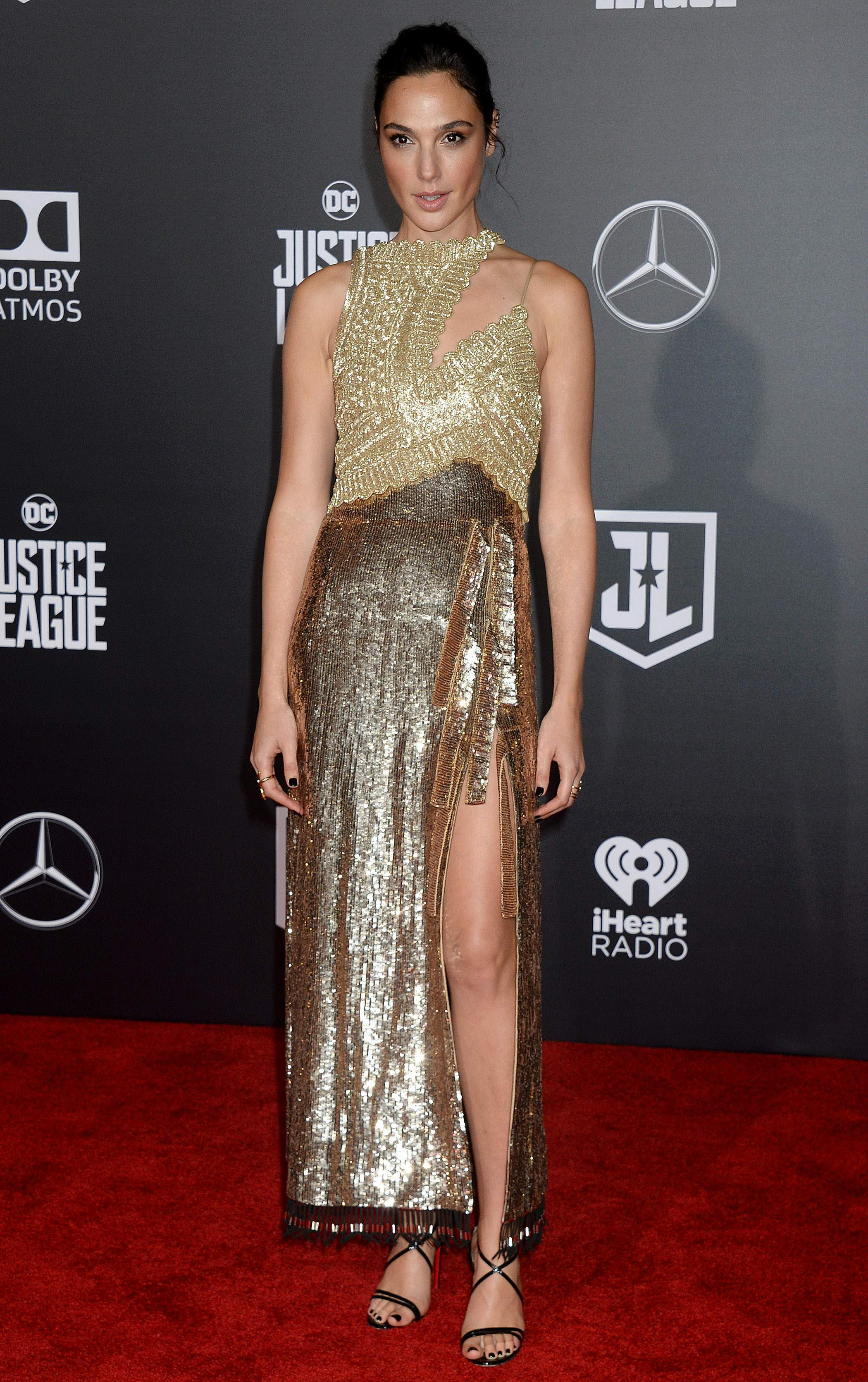 Gal Gadot at the premiere of 'Justice League' in Los Angeles