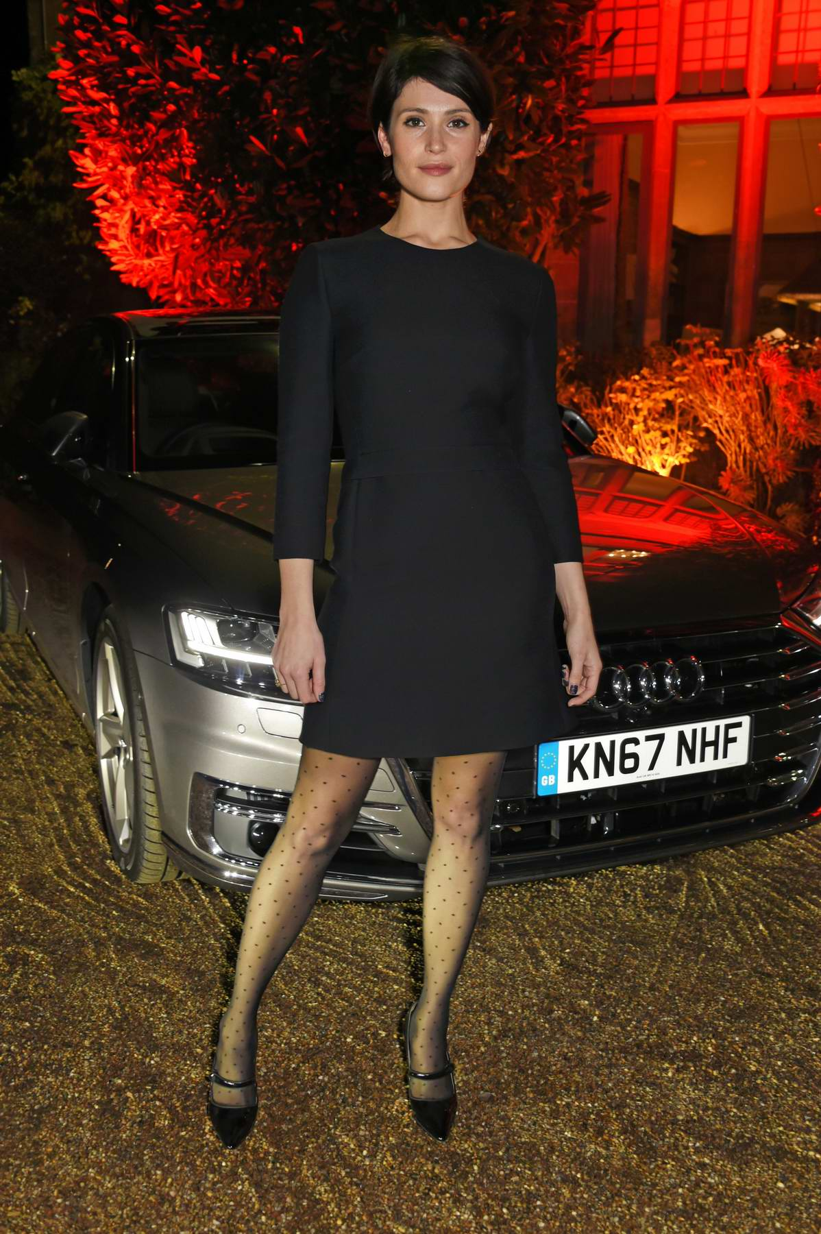 Gemma Arterton at Audi A8 launch in Midhurst, England